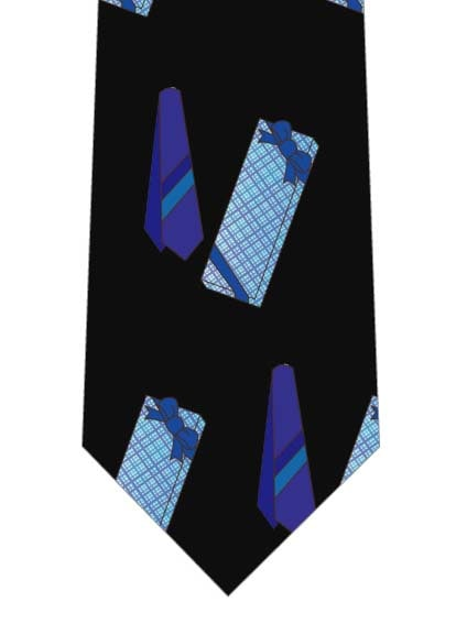 青いネクタイのプレゼントネクタイ(中)の写真