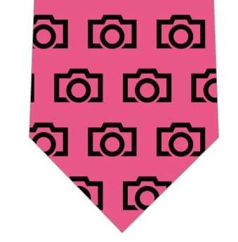 カメラアイコンネクタイ(ピンク)の写真