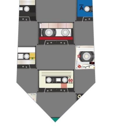 カセットテープネクタイ(グレー)の写真