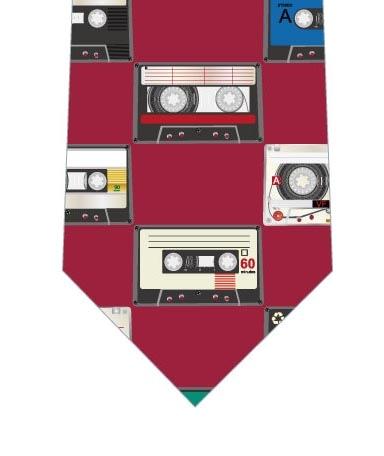 カセットテープネクタイ(ワイン)の写真
