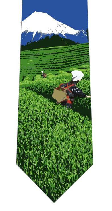 茶摘み風景ネクタイの写真