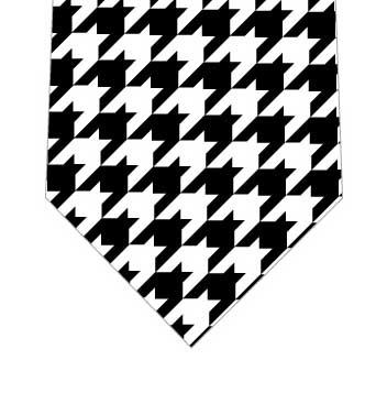 千鳥格子柄ネクタイの写真