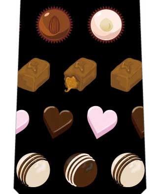 チョコレートミックスネクタイ(黒)の写真