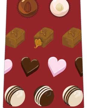 チョコレートミックスネクタイ(エンジ)の写真
