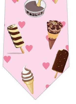 チョコアイスネクタイ(ピンクハート)の写真