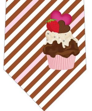 チョコブラウニー(茶色)ネクタイの写真