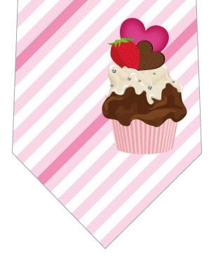 チョコブラウニー(ピンク)ネクタイの写真