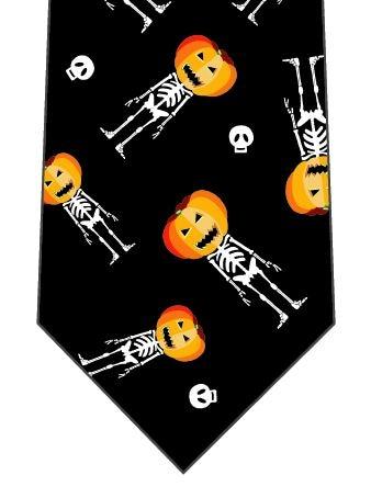 ハロウィンネクタイ(直立かぼちゃドクロごろごろ)の写真