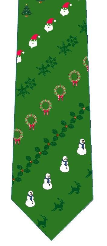 クリスマスネクタイ(飾り・緑)の写真