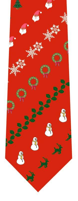 クリスマスネクタイ(飾り・赤)の写真