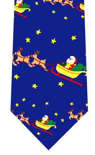 クリスマスネクタイ(サンタ出発)の写真