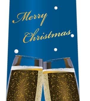 クリスマスネクタイ(二人だけの素敵な乾杯・青)の写真
