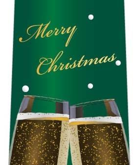 クリスマスネクタイ(二人だけの素敵な乾杯・緑)の写真