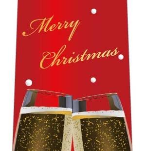 クリスマスネクタイ(二人だけの素敵な乾杯・赤)の写真