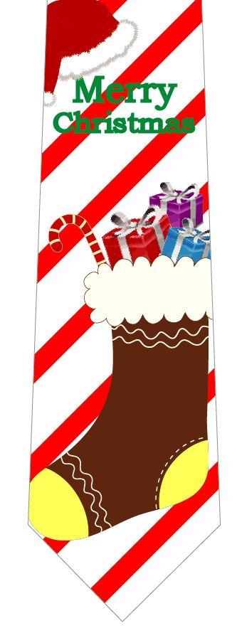 クリスマスネクタイ(靴下からプレゼント)の写真