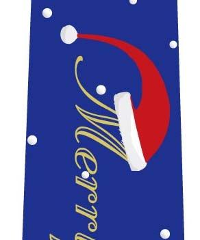 クリスマスネクタイ(サンタ帽子の文字・ブルー)の写真