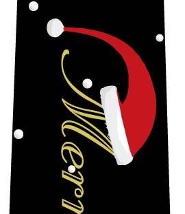 クリスマスネクタイ(サンタ帽子の文字・黒)の写真