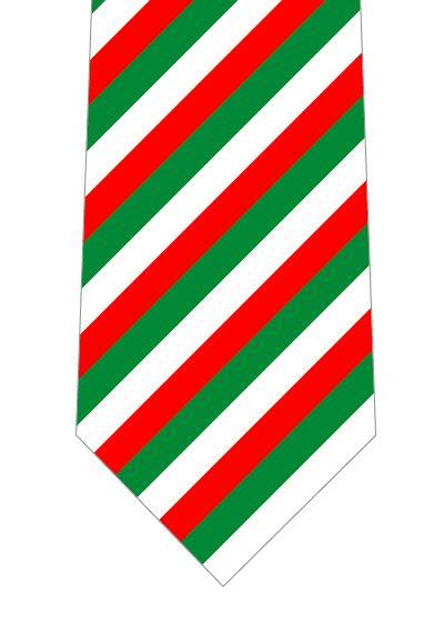 クリスマス(ストライプ)ネクタイの写真