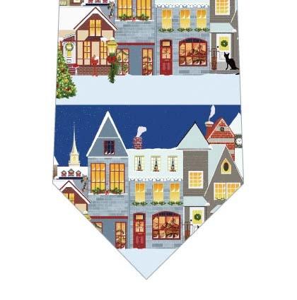 クリスマスの街ネクタイの写真