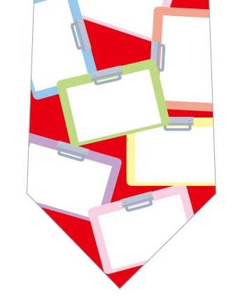 クリップボードネクタイ(赤)の写真