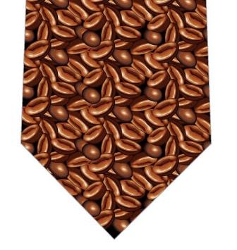 コーヒー豆ぎっしりネクタイの写真