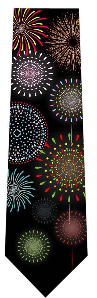 カラフルな花火ネクタイの写真