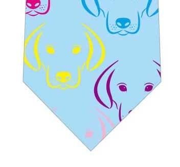 カラフル犬ネクタイ(水色)の写真