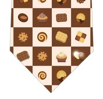クッキーブロックチェックネクタイの写真