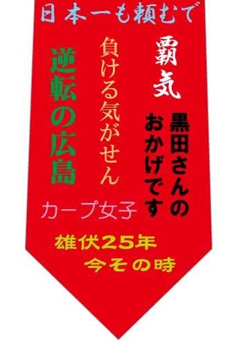 カープ優勝記念ネクタイの写真