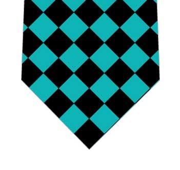 ナイルブルー黒ダイヤネクタイの写真