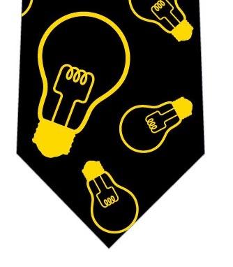 電球ネクタイ(黒)の写真