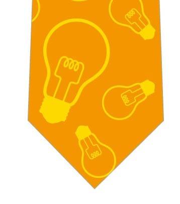 電球ネクタイ(オレンジ)の写真