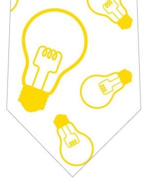 電球ネクタイの写真