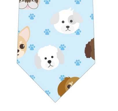 犬ネクタイ(水色)の写真