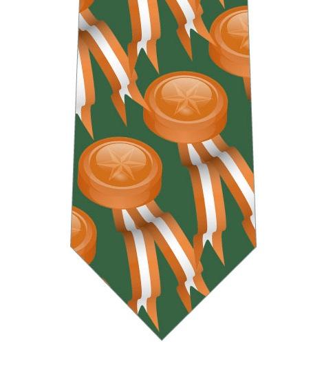 銅メダル柄ネクタイの写真