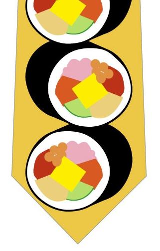 恵方巻きネクタイ(黄色)ネクタイの写真