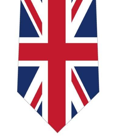 イギリスネクタイ(縦)の写真