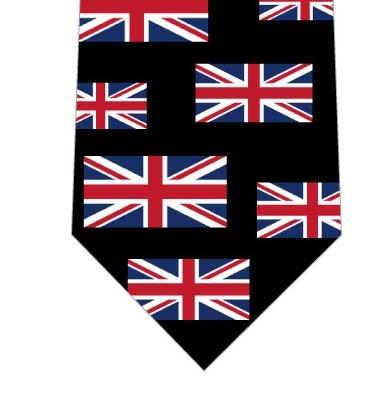 イギリス国旗ネクタイ(横・黒)の写真