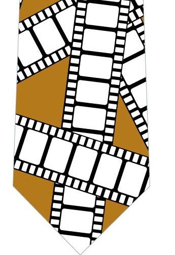 フィルムネクタイ(茶色)の写真