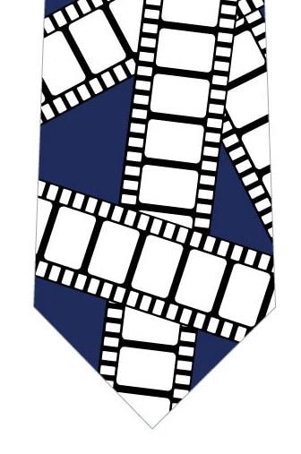 フィルムネクタイ(紺)の写真