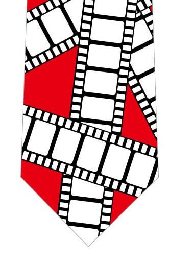 フィルムネクタイ(赤)の写真
