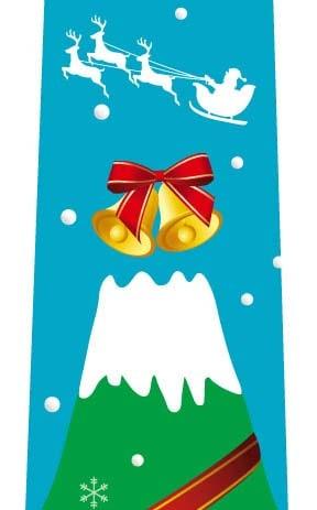 富士山クリスマスツリーネクタイ(水色)の写真