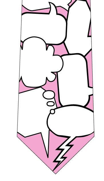 吹き出しメッセージネクタイ(ピンク)の写真