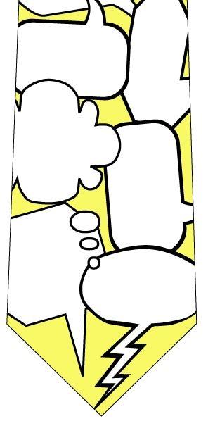 吹き出しメッセージネクタイ(黄)の写真