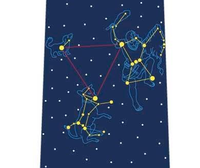 冬の大三角形ネクタイの写真
