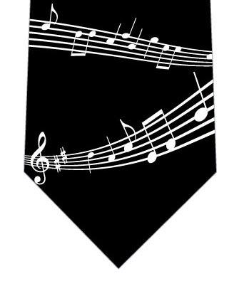楽譜ネクタイ(黒)の写真