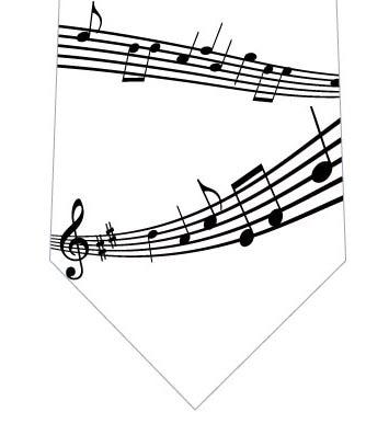 楽譜ネクタイ(白)の写真
