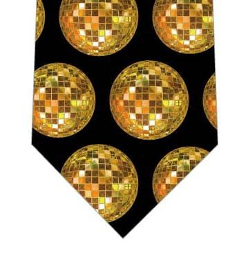 ゴールドミラーボールネクタイ(黒)の写真
