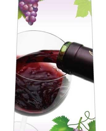 香り高い赤ワインネクタイの写真