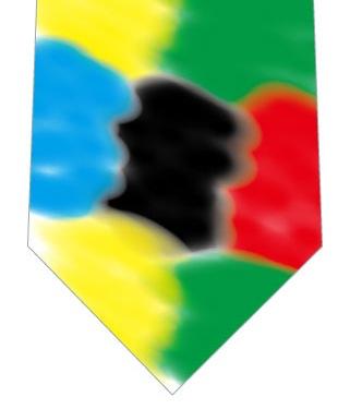 5色ネクタイの写真